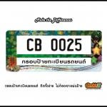 กรอบป้ายทะเบียนรถยนต์ CARBLOX ระหัส CB 0025 ลายเทศกาลต่างๆ FESTIVALS.