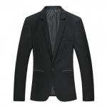 Pre-Order เสื้อสูท สูทเบลเซอร์ แขนยาว ผ้าฝ้ายผสม สูทแฟชั่น สูทเข้ารูป สีดำ