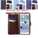 เคสไอโฟน 6 พลัส สีดำ แบบฝาพับ ผ้ายีนส์ แถมฟรีฟิล์มกันรอยใส ส่งฟรี EMS