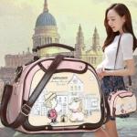 กระเป๋าลายการ์ตูน 2014 กระเป๋าซันไชน์ Combibloc สีชมพู ถือได้สะพายยาวได้ สวยหวานน่ารักมากๆค่ะ