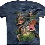Pre.เสื้อยืดพิมพ์ลาย3D The Mountain T-shirt : Gator Bog