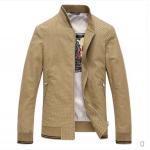 Pre-Order เสื้อแจ็คเก็ตผู้ชาย แจ็คเก็ตธุรกิจ แขนยาว ผ้าฝ้ายผสม สีกากี