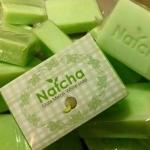 สบู่นัชชา Natcha Gluta Melon White soap 80g. (สี้ขียว)
