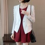 Pre-Order เสื้อสูทผู้หญิง เสื้อสูทวัยรุ่น แฟชั่นเสื้อผ้า เวอร์ชั่นเกาหลี แขนยาว สีขาว