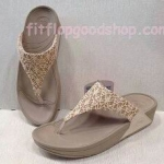 รองเท้า Fitflop New 2013 ผ้าลูกไม้ สีครีม  No.FF408