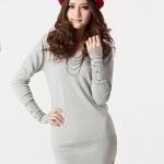 (Pre-Order) เสื้อไหมพรม เสื้อสเวตเตอร์ ถักจากผ้าฝ้ายโพลีเอสเตอร์ไลก้า แฟชั่นเสื้อสไตล์เกาหลี สีขาว