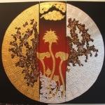 ภาพมงคล เสริมดวง ฮวงจุ้ย ( เงิน ทอง สุขภาพ ไหลเวียนดี ) ขนาด 1 x 1 เมตร