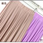 Pre-Order กระโปรงพลีท ผ้าชีฟอง สไตล์โบฮีเมียน ความยาว 50 - 96 cm.สีกะปิและม่วงอ่อน