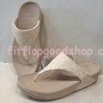รองเท้า Fitflop New 2013 ผ้าลูกไม้ สีขาว No.FF406