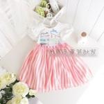 (พร้อมส่ง Size 110) เสื้อผ้าเด็ก ชุดกระโปรงเด็กน่ารักๆ ราคาถูก