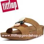 รองเท้า Fitflob Arena Slide Tan สีน้ำตาล (สวมเพชร 4 เม็ด)  No.FF008