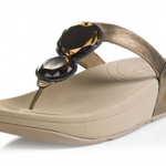 รองเท้า Fitflob Luna Bronze เพชร 2 เม็ด สีน้ำตาลทอง No.FF081