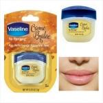 **พร้อมส่ง+ลด 50%** Vaseline Lip Therapy Creme Brulee 7 g.
