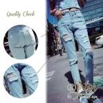 สินค้าพร้อมส่ง 한국에 의해 설계된 2Sister Made, Korea Blue Jeans Trousers กางเกงยีนส์ขายาวฟอกสีอ่อน ลุคเซอร์ๆเก๋ๆ แต่งขาดด้านหน้าสวยมากๆค่ะ เนื้อผ้าเดนิมเกรดดี เย็บตะเข็บสวย ใส่ได้หลายโอกาส mix&matchเข้ากับเสื้อตัวไหนก็สวยค่ะ งานป้าย2Sister สินค้านำเข้างานพรีเมีย