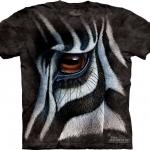 Pre.เสื้อยืดพิมพ์ลาย3D The Mountain T-shirt :Zebra Eye