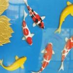 ภาพมงคล เสริมดวง ฮวงจุ้ย ( เงิน ทอง สุขภาพ ไหลเวียนดี ) ขนาด 60 x 120 cm
