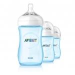 Avent เอเวนท์ ขวดนมเอเว้นท์ สีฟ้า รุ่น Natural รุ่นล่าสุด ขนาด 9 ออนซ์