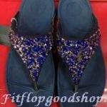 รองเท้า Fitflop Rockchic  เพชรเม็ดเล็ก สีน้ำเงิน No.FF302