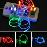 Cable USB To Micro USB LED Light (1M) คละสี