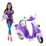 z Barbie Glam Scooter with Teresa Doll ของแท้100% นำเข้าจากอเมริกา ตุ๊กตาบาร์บี้ พร้อมเซ็ตขับรถมอเตอร์ไซต์
