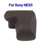 พร้อมส่ง กระเป๋ากล้องหนัง Sony NEX5 สีน้ำตาล