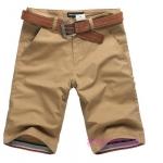 (Pre-Order) กางเกงขาสั้น กางเกงลำลองผู้ชาย ทรงขาตรง เย็บขอบปลายขา