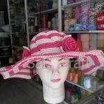 หมวกถักโครเชต์ หมวกสวย