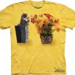 Pre.เสื้อยืดพิมพ์ลาย3D The Mountain T-shirt : Flower Kitten