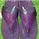 รองเท้า Fitflob Astrid Sandal หูหนีบเกล็ดเพชร สีม่วง No.FF246