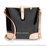 Pre-Order กระเป๋าหนังแก้วสีดำ Dooney & Bourke Claremont' Crossbody Bucket Bag กระเป๋าถือใบเล็ก กระเป๋าแฟชั่นผู้หญิงทำงาน