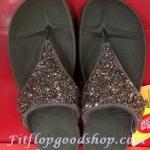 รองเท้า Fitflop Rockchic เพชรเม็ดเล็ก สีน้ำตาล No.FF303