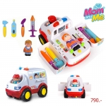 HuileToys รถพยาบาล สุดเจ๋ง All Around Ambulance สำหรับน้อง 36 เดือน+
