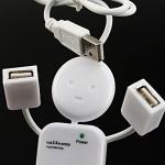4 Port USB HUB (Robot) white