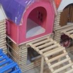 บ้านไม้สัตว์เลี้ยง2 ชั้น ขนาดใหญ่ พร้อมบันได