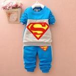 (พร้อมส่ง Size XXL ประมาณ 110 จ้า ) ชุดเด็กซุปเปอร์แมน ผ้าดีมาก สินค้าขายดีเลยจ้า