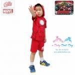 ( 3-4-5 ปี ) ชุดแฟนซี เด็กผู้ชาย Super Hero - The Avengers - Iron Man สีแดง เสื้อแขนสั้นสกรีนลายเกราะมีหมวก(ฮู้ด) มีไฟกระพริบตรงหน้าอก กางเกงขาสั้น ชุดเสมือนจริงสุดเท่ห์ ลิขสิทธิ์แท้ (สำหรับเด็ก3-4-5 ปี)