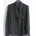 (Pre-Order) เสื้อเชิ้ตแขนยาว คอปก เสื้อเชิ้ตลำลอง เสื้อไปงาน สีดำ