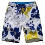Pre-order กางเกงขาสั้น กางเกงลำลองฤดูร้อน กางเกงทะเล แฟชั่นสไตล์เกาหลี สำหรับหนุ่มไซส์ใหญ่ สีขาวดอกชบา