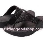 รองเท้า Fitflob Rokkit Black เพชรกระจาย สีดำ No.FF108