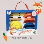 Fox and Freinds ชุดเตรียมอาหารเด็ก 8 ชิ้น สีเหลือง BPA Free
