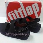 รองเท้า Fitflop New สวม รัดส้น สีดำ No.FF427