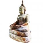 พระพุทธรูปปางสมาธิ แกะสลักจากหินอ่อนสีเขียว