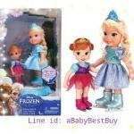 z Disney Frozen 6inch Elsa with Baby Anna figure from USA น่ารักมากๆ สองพี่น้องเอลซ่า&อันนา เล่นไอซ์สเก็ต เลื่อนหมุนเป็นวงกลมได้ ของแท้100% นำเข้าจากอเมริกา