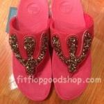 รองเท้า Fitflop Rockchic เพชรเม็ดเล็ก รุ่นใหม่ สีแดง No.FF364