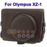 หมดค่ะ กระเป๋ากล้องหนังสีน้ำตาล OLYMPUS XZ-1