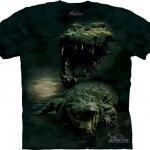 Pre.เสื้อยืดพิมพ์ลาย3D The Mountain T-shirt : Dark Gator