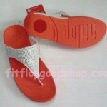 รองเท้า Fitflob  New Rokkit  สีขาวพื้นส้ม No.FF262