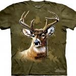 Pre.เสื้อยืดพิมพ์ลาย3D The Mountain T-shirt : Camo Deer
