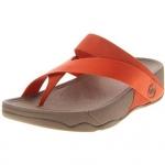รองเท้า Fitflob Sling Leather Sport Orange  สีส้มพื้นน้ำตาลเทา No.FF120