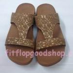 รองเท้า Fitflop New สวม ลูกไม้ สีน้ำตาล  No.FF414